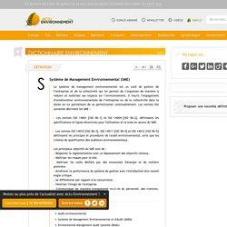 Système de Management Environnemental (SME) - Définition