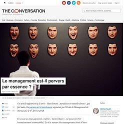 Le management est-il pervers paressence?