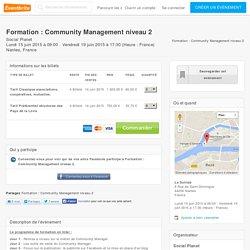 Billets pour Formation : Community Management niveau 2 à , Nantes