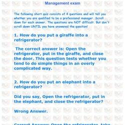 Management Exam