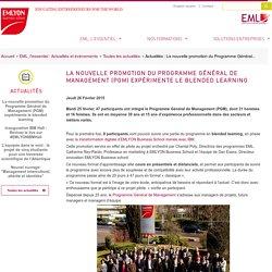 La nouvelle promotion du Programme Général de Management (PGM) expérimente le blended learning / Actualités / Toutes les actualités / Actualités et évènements / EML, l'essentiel / EML Executive Education