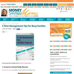 5 Time Management Tips for Busy Families