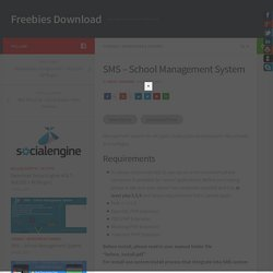 SMS - School Management System - Freebies Download