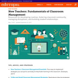 New Teachers: Classroom-Management Fundamentals