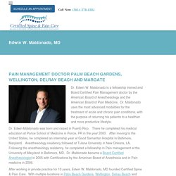 Pain Management Doctor Palm Beach Gardens