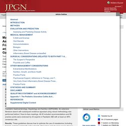 Management of Paediatric Ulcerative Colitis, Part 1: Ambula... : Journal of Pediatric Gastroenterology and Nutrition