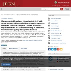 Management of Paediatric Ulcerative Colitis, Part 2: Acute... : Journal of Pediatric Gastroenterology and Nutrition
