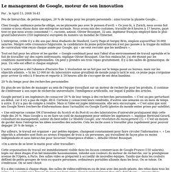 Le management de Google, moteur de son innovation - La Croix