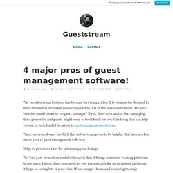 4 major pros of guest management software! – Gueststream