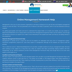Management Assignment Help - My Homework Help Online