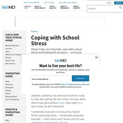 School Stress Management: Homework, Over-Scheduling, Sleep, and More