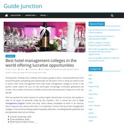 Hotel Management Colleges, World Hospitality School in Pune, India