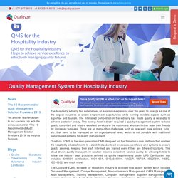 Quality Management System for Hospitality Industry