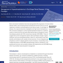 Management of Hyperphosphatemia in End-Stage Renal Disease: A New Paradigm - Journal of Renal Nutrition