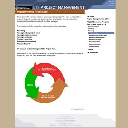 UTS: Project Management - Step by step guide - Planning - Implementation