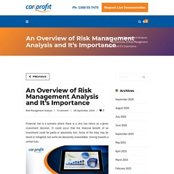 An Overview of Risk Management Analysis and It's Importance