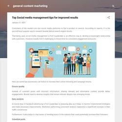 Top Social media management tips for improved results