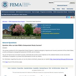 Taking Independent Study (IS) courses online | FEMA.gov