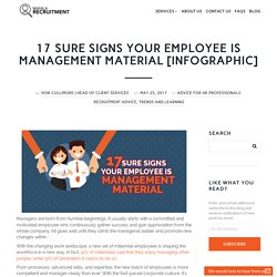 17 Sure Signs Your Employee is Management Material [Infographic]