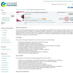 Journal of Knowledge Management information
