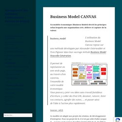 Business Model CANVAS - Management des Systèmes d'Information - Gestion de Projets