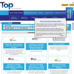 Management Consulting Jobs, Strategy & IT Jobs, News & Career Information - Top-Consultant.com