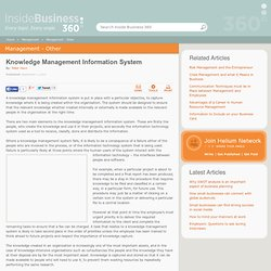 Reasons knowledge management information systems fail - by Peter Hann
