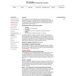 Floor Management Netwerk - Jargon - innovatie - definitie en begrippen