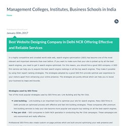 Best Website Designing Company in Delhi NCR Offering Effective and Reliable Services