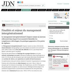Finalités et enjeux du management intergénérationnel
