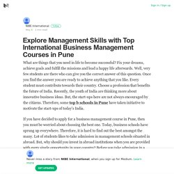 Explore Management Skills with Top International Business Management Courses in Pune