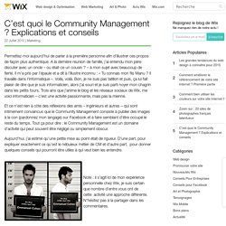C'est quoi le Community Management ? Introduction - Wix.com