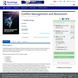 Conflict Management and Resolution: An Introduction, 1st Edition