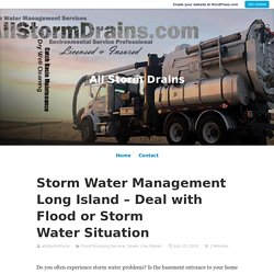 Consider the Storm Water Management Service in Long Island