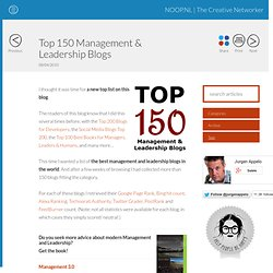 Top 150 Management &Leadership Blogs - Agile Management | NOOP.NL - StumbleUpon