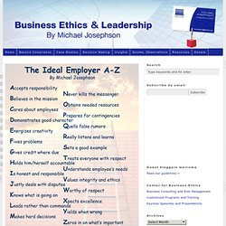 MANAGEMENT & LEADERSHIP INSIGHT: The Ideal Employer A-Z (Poster)