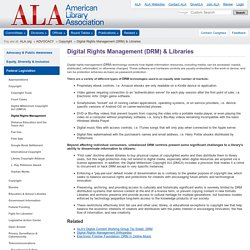 Digital Rights Management (DRM) & Libraries