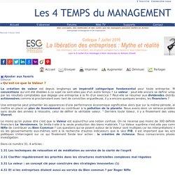 """La Valeur sur le site """"Les 4 temps du management"""""""