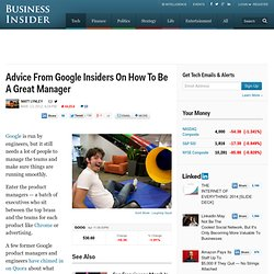 Management Lessons You Should Steal From Google