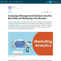 Campaign Management Solutions Are the Best Way for Marketing Your Brands: qnvert — LiveJournal