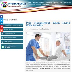 Pain Management When Living With Arthritis
