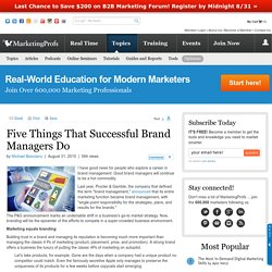 Brand Management - Five Things That Successful Brand Managers Do
