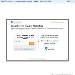 General Management - Eight Secrets of Agile Marketing