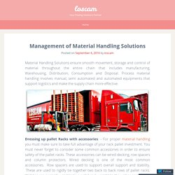 Management of Material Handling Solutions
