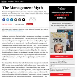 The Management Myth - Magazine