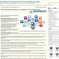 49 Social Media Management and Influence Measurement Tools