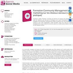 Formation Community Managementet Marketing sur les réseaux sociaux