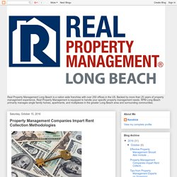 Property Management Companies Impart Rent Collection Methodologies