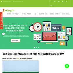 Best Business Management with Microsoft Dynamics NAV – ERP Solutions