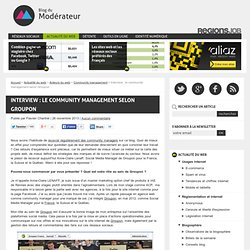 Interview : le community management selon Groupon